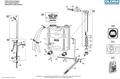 Explosionszeichnung mit Ersatzteilliste für das Kolbenrückensprühgerät Gloria Classic 1200