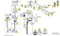 Explosionszeichnung mit Ersatzteilliste für das Drucksprühgerät Gloria prima 5 Typ 42 E
