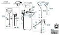 Explosionszeichnung mit Ersatzteilliste für das Drucksprühgerät Gloria prima 8