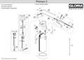 Explosionszeichnung mit Ersatzteilliste für das Drucksprühgerät Gloria primex 5