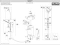 Explosionszeichnung mit Ersatzteilliste für das Hochdrucksprühgerät Gloria 505 T