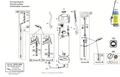Explosionszeichnung mit Ersatzteilliste für das Drucksprühgerät Gloria hobby exclusiv