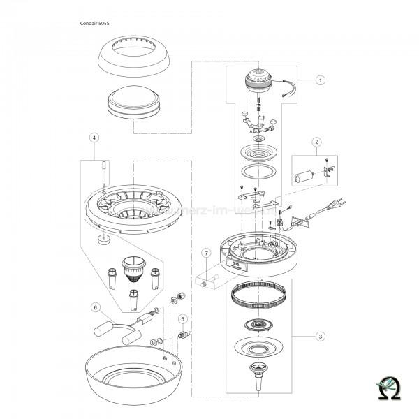 Ersatzteilzeichnung Luftbefeuchter Defensor 505S Bild Nr. 5, Ablaufanschluss für Zerstäuber Defensor 505S