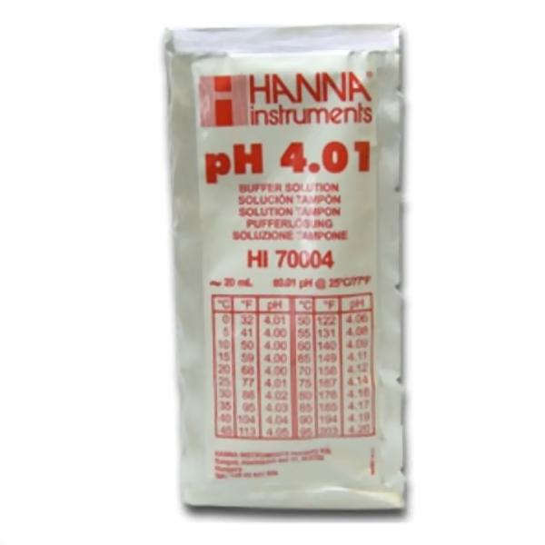 Hanna Pufferlösung HI70004 pH 4,01 20ml Prtionsbeutel
