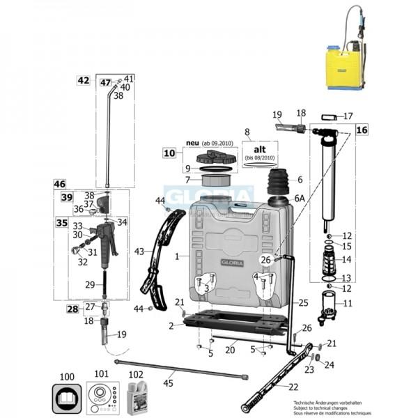 GLORIA Deckeldichtung 128,2×134,5×2,5mm bis 08/2010