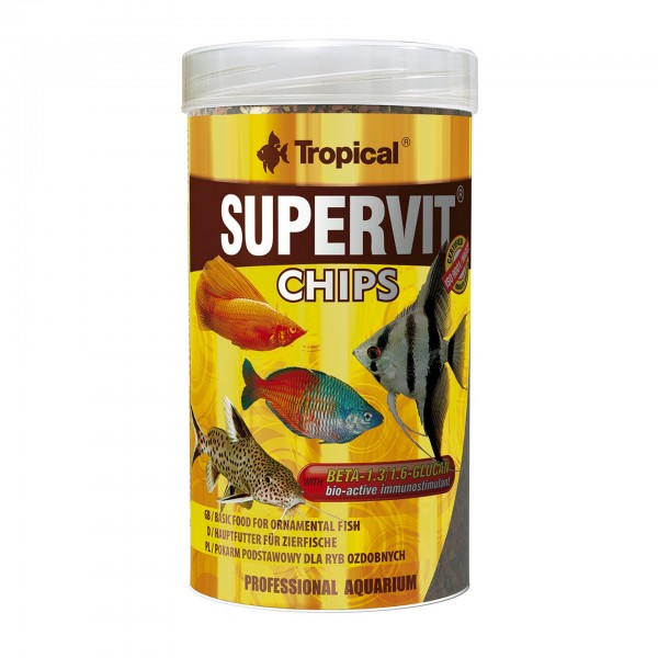 Zierfischfutter Tropical Supervit Chips 250 ml
