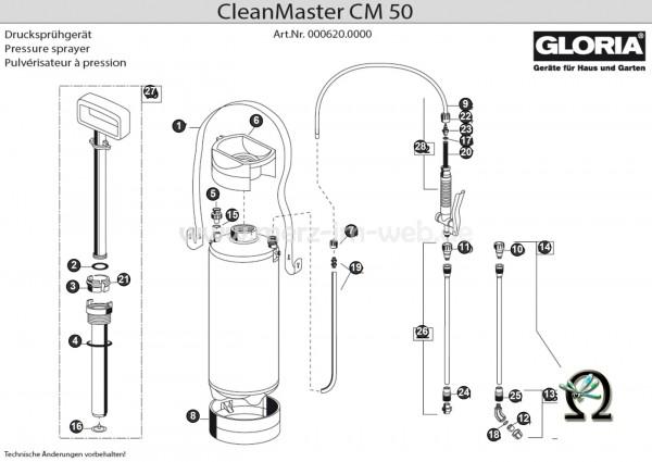 GLORIA Drucksprühgerät CleanMaster CM50 Bild Nr. 6, GLORIA Einfülltrichter 539341