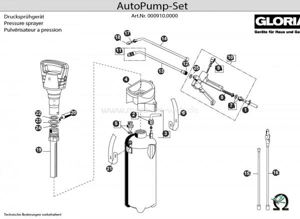 GLORIA Drucksprühgerät AutoPump Set Bild Nr. 7, GLORIA Schlauchanschlusstülle 726817