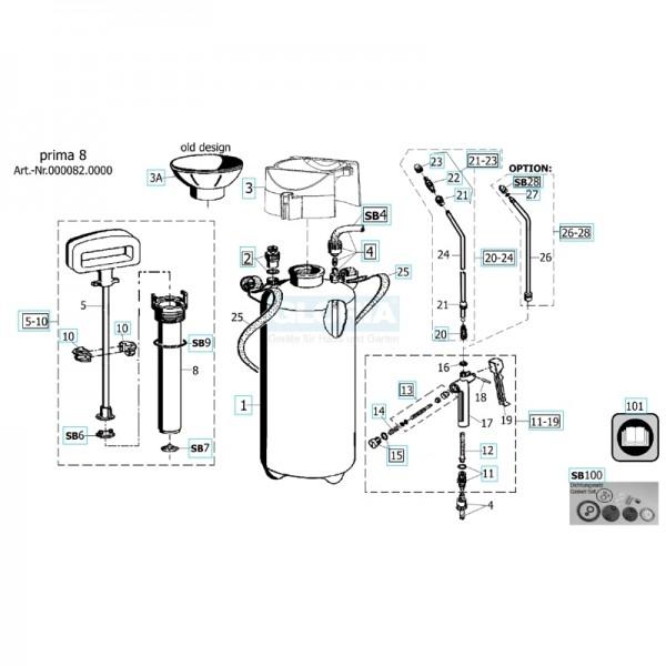 GLORIA Einfülltrichter 507910 für Drucksprühgerät prima 8 alte Ausführung