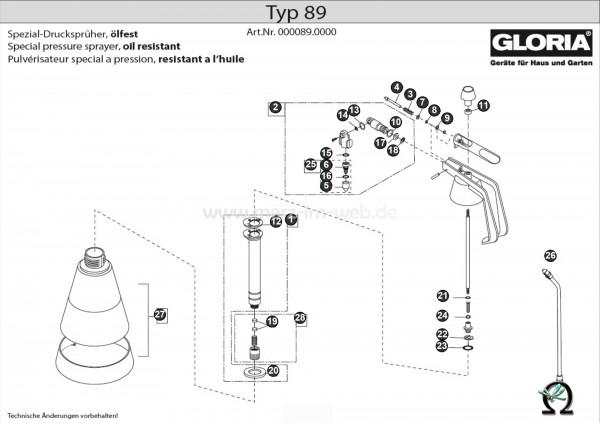 GLORIA Handsprühgerät Typ 89 Bild Nr. 3, GLORIA Ventilfeder 506220