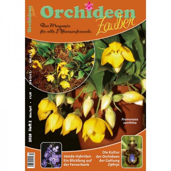 Orchideenzauber 2018 Heft 2  mit einem Artikel über Vanda-Hybriden
