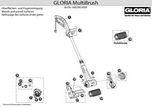 Gloria MultiBrush, Zeichnung der Einzelteile