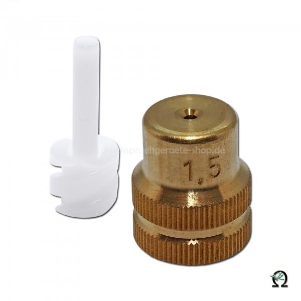 MESTO Messing-Hohlkegeldüse 1,5 mm mit Dralleinsatz