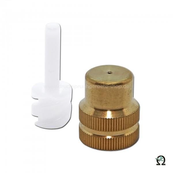 MESTO Messing-Hohlkegeldüse 0,8 mm mit Dralleinsatz
