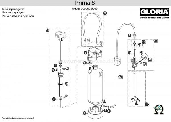 GLORIA Drucksprühgerät prima 8 (GL-000099.0000) Bild Nr. 2, GLORIA Schauchtülle 541578