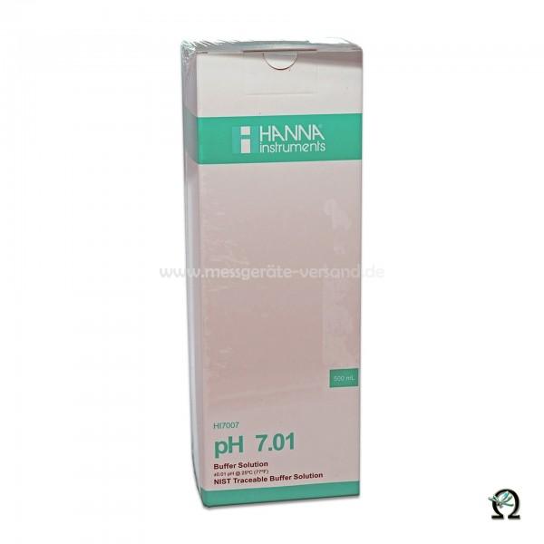 Hanna Pufferlösung HI7007 pH 7,01 mit Analysezertifikat 500ml