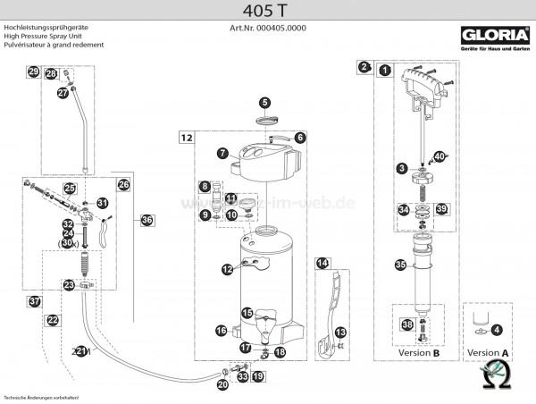 Hochdrucksprühgerät Gloria 405 T Bild Nr. 25, GLORIA Ventilbolzen 711790