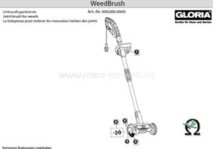 Gloria WeedBrush, Zeichnung der Einzelteile