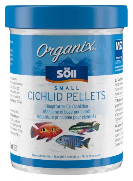 Cichlidenfutter Organix Small Cichlid Pellets 98g (270 ml)