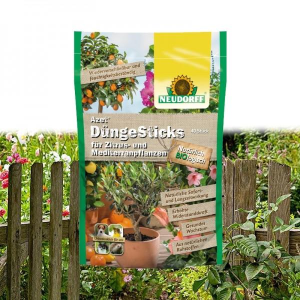 Azet DüngeSticks für Zitrus- und Mediterranpflanzen
